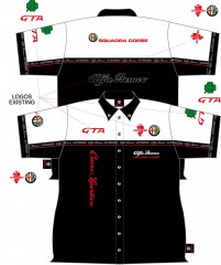 Alfissimo Pit Shirt 01 Black White